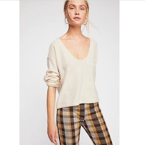 NWT Free People Forever Cashmere V-neck Sweater
